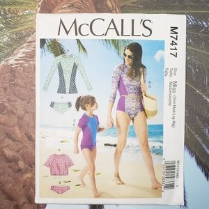 M7417 McCalls Rash Guard Surf Swimsuit Pattern